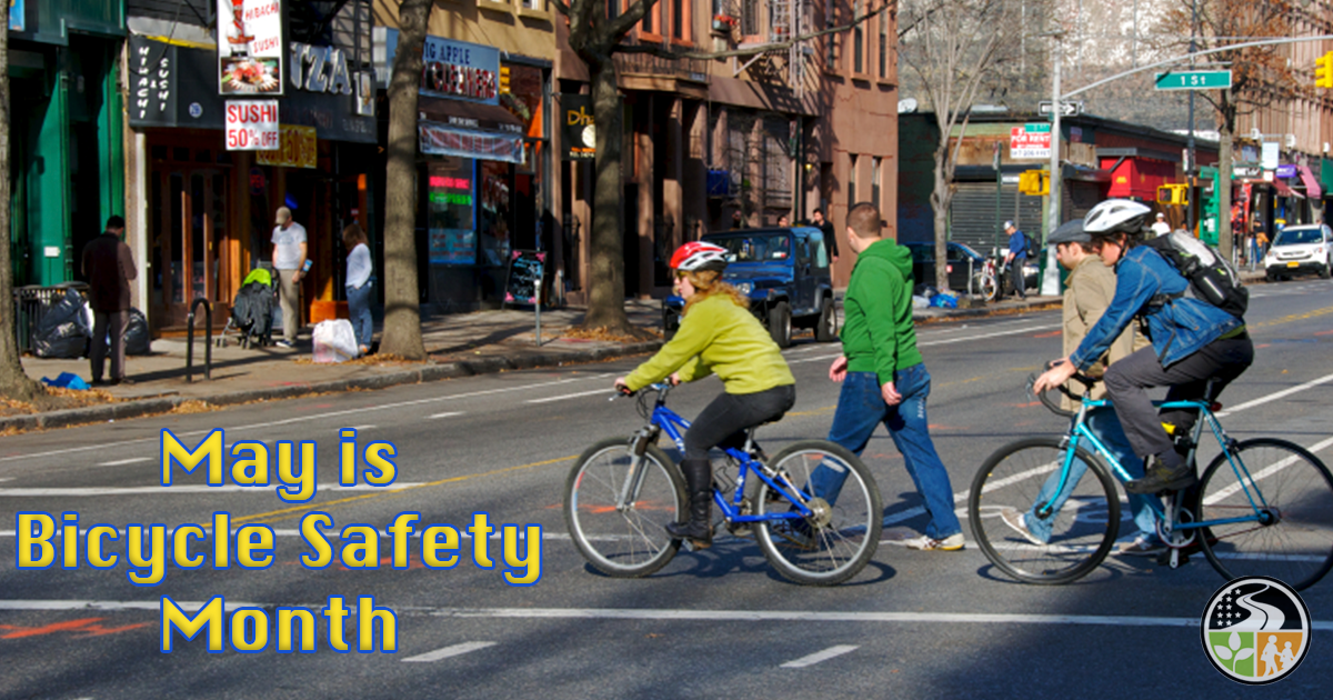 Bicyclists safely crossing the street