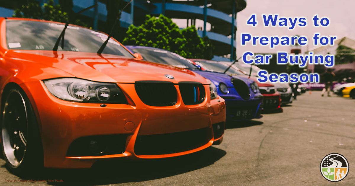 Cars for sale during car buying season