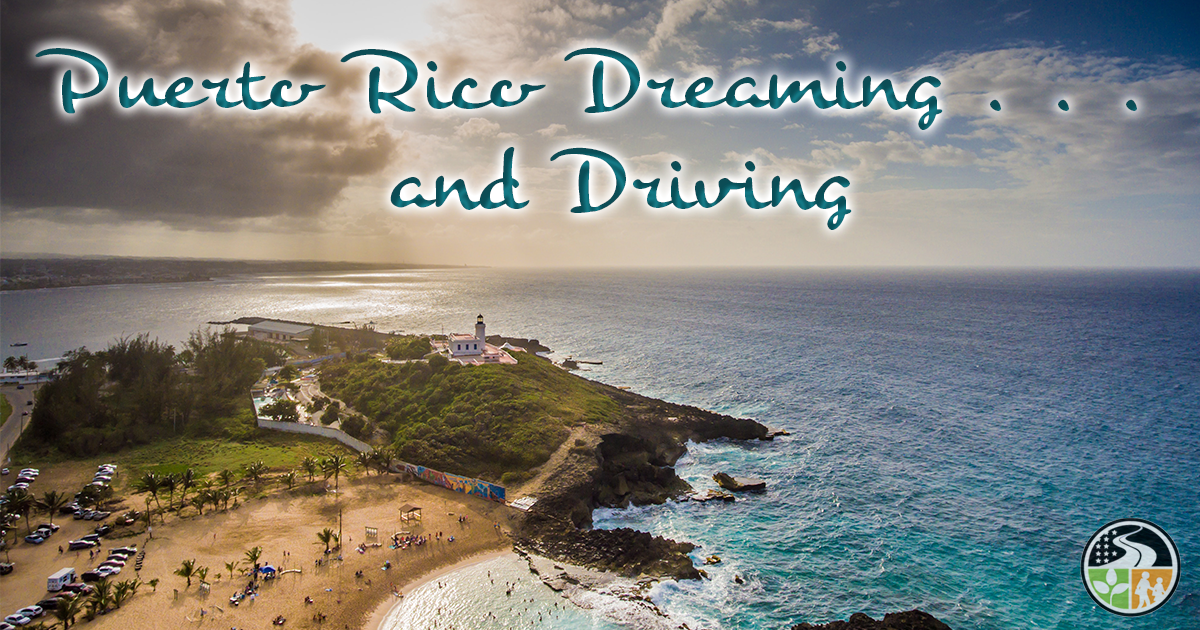 Driving on the beautiful island of Puerto Rico