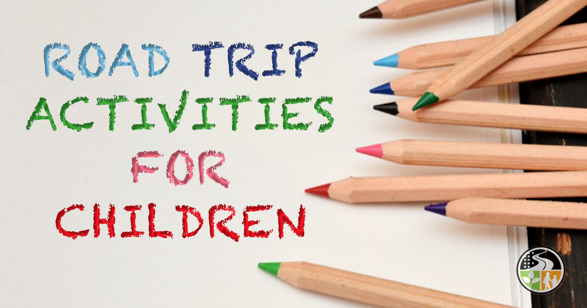 Coloring pencils for kids on a road trip