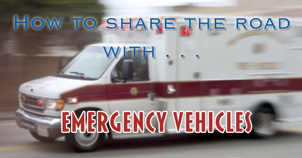 Emergency vehicle responding to a call